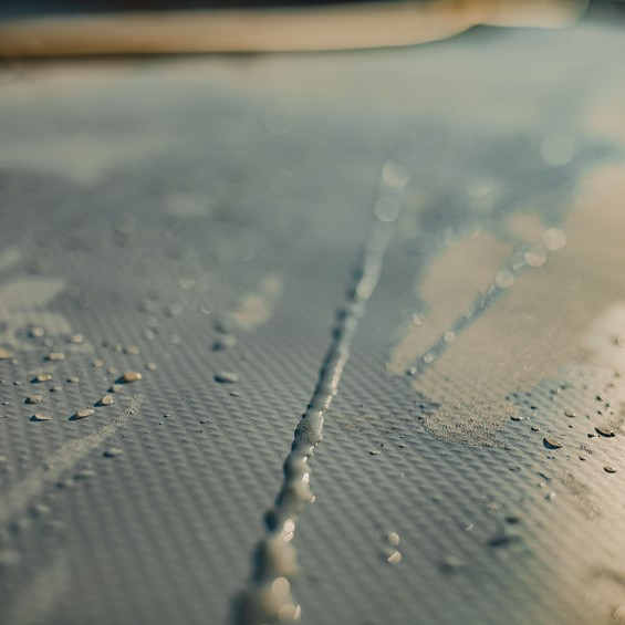 water on a membrane