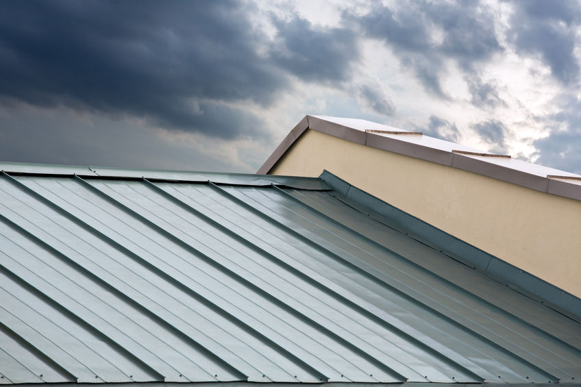 Close Up Shot of Metal Roofing